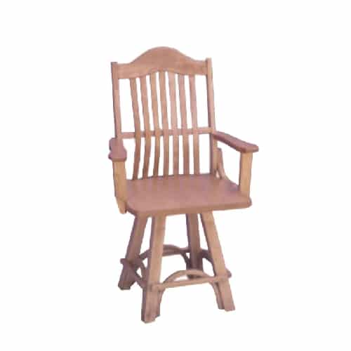 amish counter height arm swivel chairchair