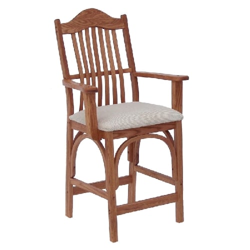 amish upholstered arm chair