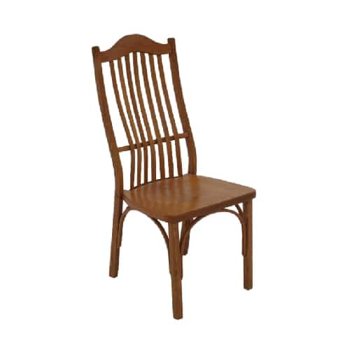 amish wood side chair