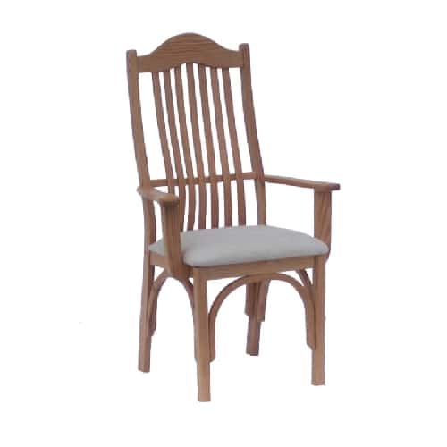 amish upholsetered formal arm chair