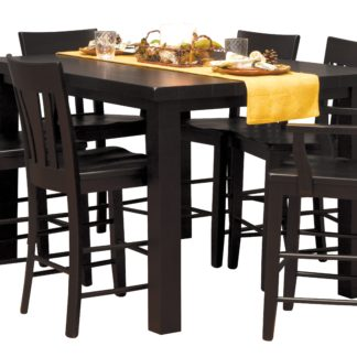 CL7 Counter Height Westchester Table in Ebony with Tulip Back Counter Height Chairs
